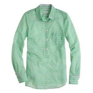 J Crew stripe cotton-silk popover, 00